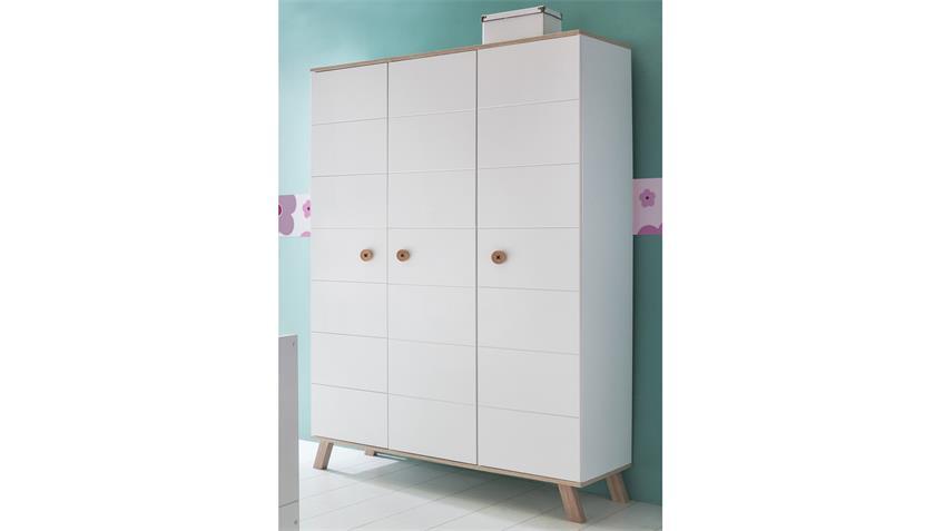 kleiderschrank billu alpinwei mit eiche s gerau 125 cm. Black Bedroom Furniture Sets. Home Design Ideas