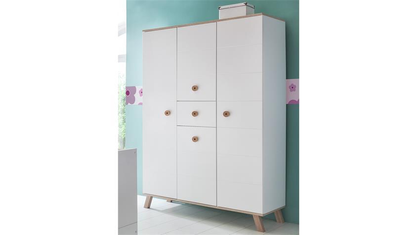 kleiderschrank billu alpinwei mit eiche s gerau 4 t rig. Black Bedroom Furniture Sets. Home Design Ideas