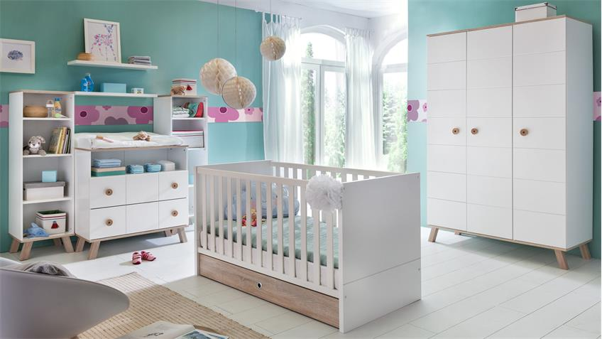 babyzimmer komplettset 1 billu alpinwei und eiche s gerau. Black Bedroom Furniture Sets. Home Design Ideas