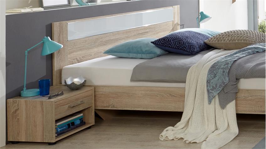 bettanlage petra futonbett 180x200 eiche s gerau mit glas. Black Bedroom Furniture Sets. Home Design Ideas