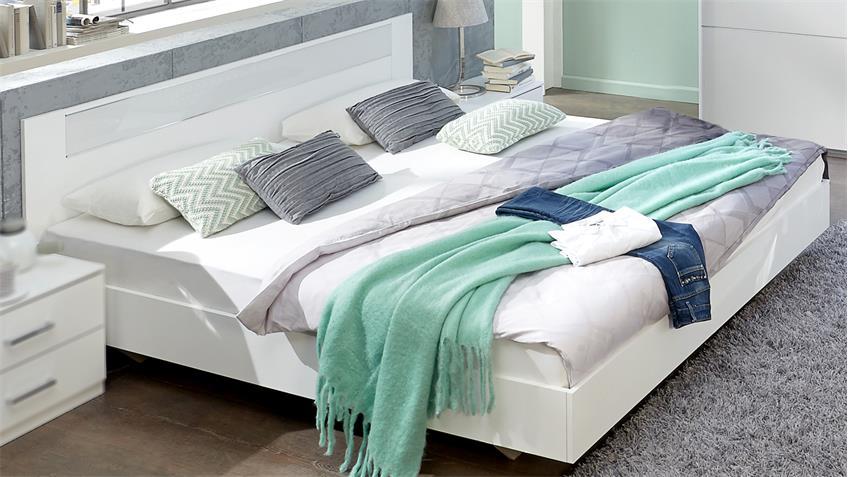 futonbett pamela 180x200 bettgestell in alpinwei und glas wei. Black Bedroom Furniture Sets. Home Design Ideas