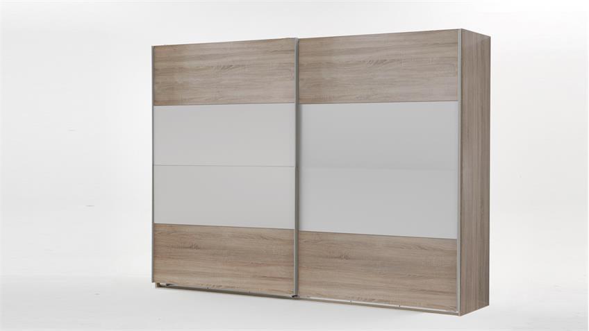 schwebet renschrank easy plus eiche s gerau mit wei 225. Black Bedroom Furniture Sets. Home Design Ideas