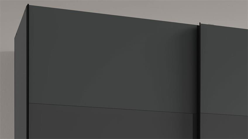 Schwebetürenschrank ALTONA 2-trg. graphit Glas grey 180 cm
