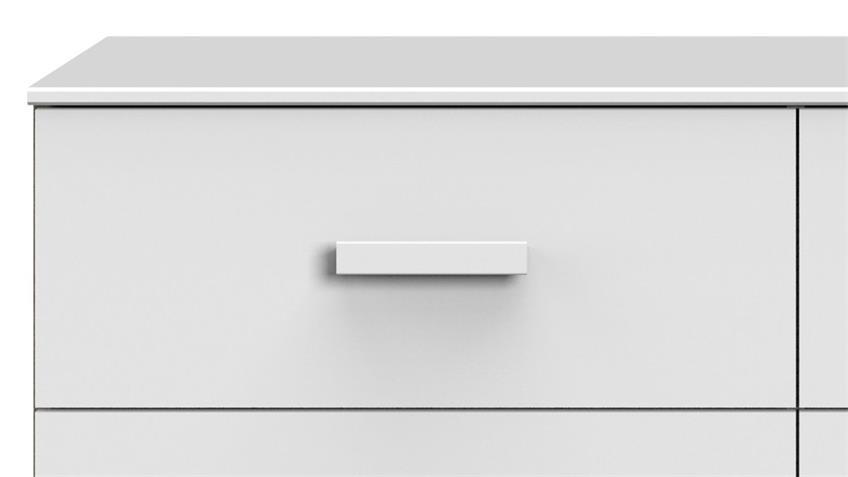 Kommode MAINAU Schrank weiß 6 Schubkästen 130 cm