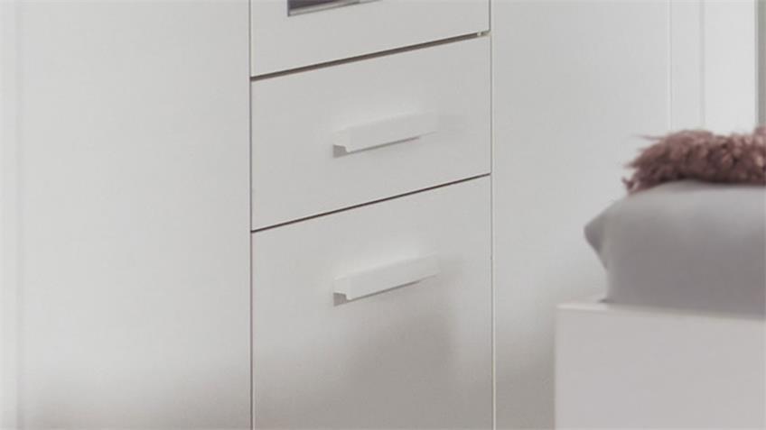 Kleiderschrank MAINAU 3-trg. weiß Spiegel Schrank 135 cm