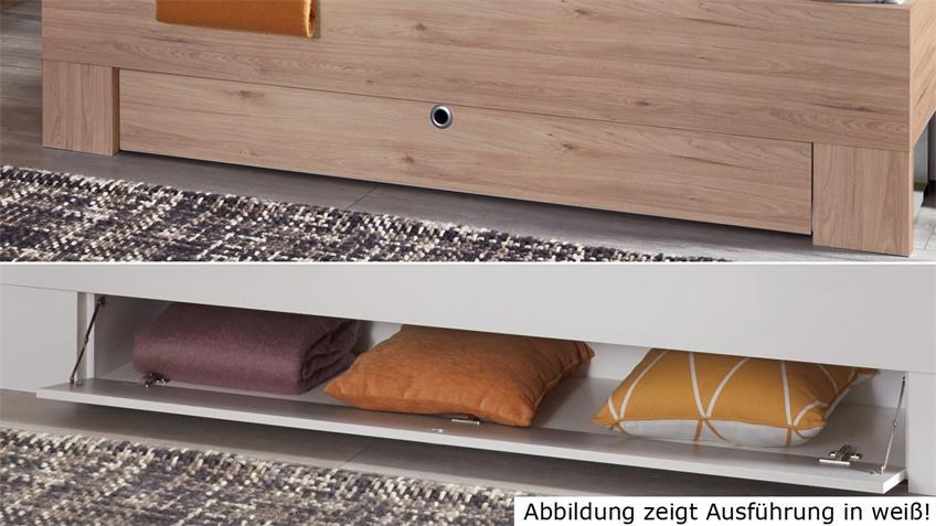 Schlafzimmer MAINAU 4-tlg. Hickory-Oak Spiegel 180x200 cm