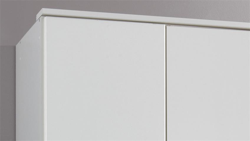 Kleiderschrank CLICK Schrank weiß Dekor 3 Türen 135 cm