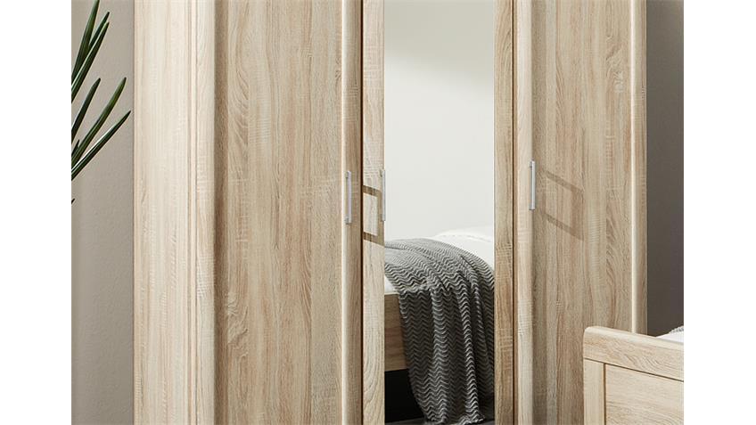 Kleiderschrank MERAN in Eiche sägerau mit Spiegel 150 cm