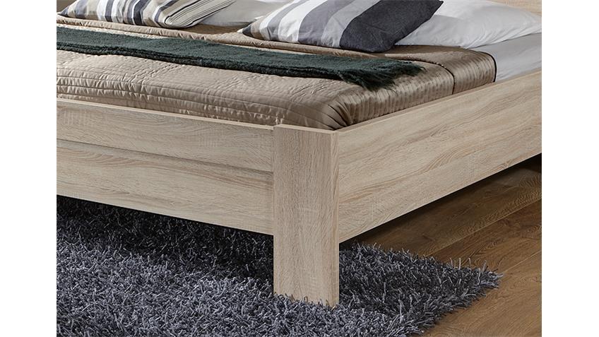 Bett DONNA Schlafzimmerbett in Eiche sägerau 180x200 cm