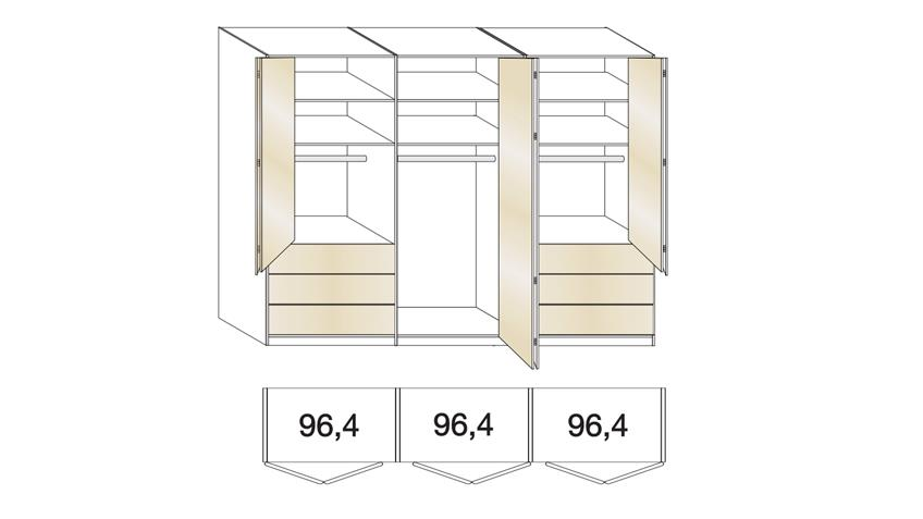 Schlafzimmer Set LOFT Schrank Bett Nachtkommode weiß Glas