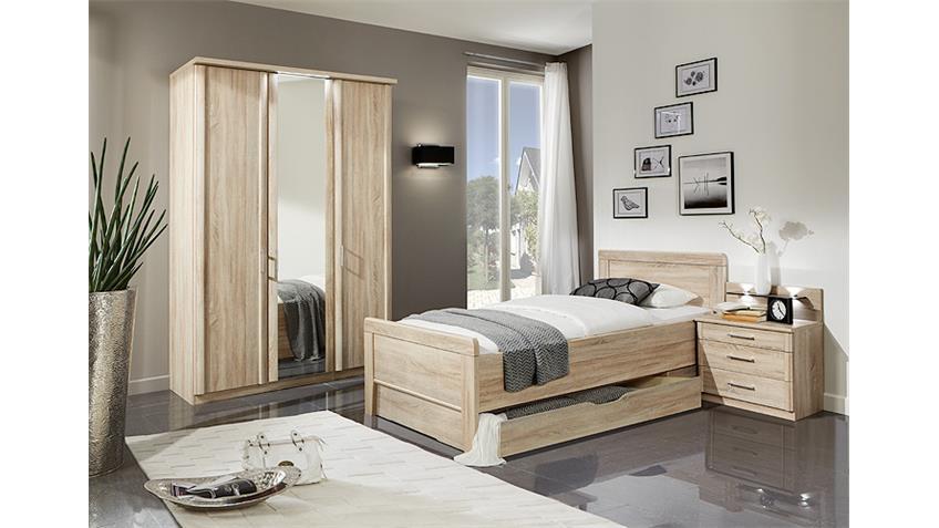 Schlafzimmerset MERAN Bett Schrank Nako in Eiche sägerau