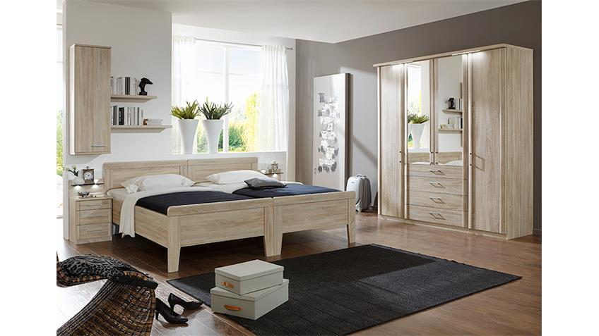 schlafzimmerset 3 meran schrank bett nako eiche s gerau. Black Bedroom Furniture Sets. Home Design Ideas