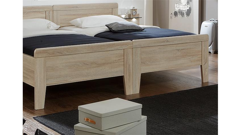 Schlafzimmerset 3 MERAN Schrank Bett Nako Eiche sägerau