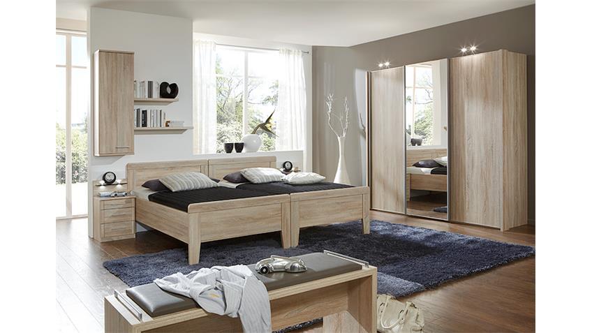 Schlafzimmerset 4 MERAN Schrank Bett Nako Eiche sägerau