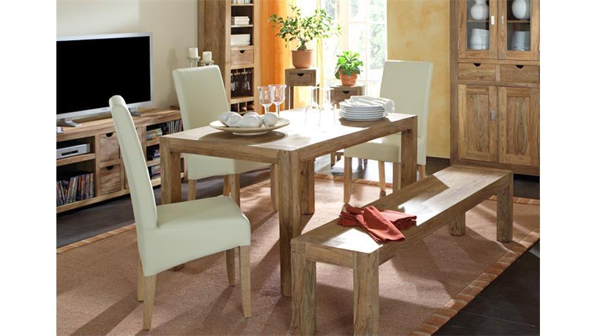 esstisch yoga 180x90 sheesham landhausstil von wolf m bel. Black Bedroom Furniture Sets. Home Design Ideas