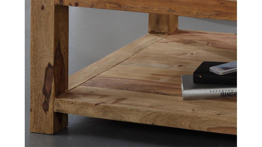 Couchtisch 80x80 cm YOGA Sheesham massiv von Wolf Möbel