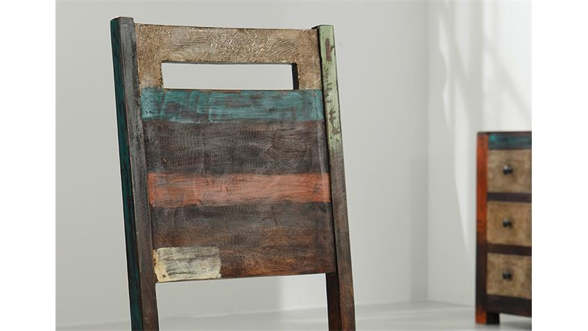 Holzstuhl Goa 4er Set Stuhl Mango Massivholz Wolf Möbel
