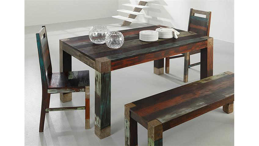 Stuhl GOA von Wolf Möbel 6er Set in Massivholz Mango