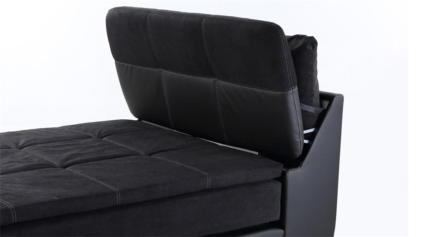 Boxspringbett ODESSA 120x200 Bett in schwarz mit Topper