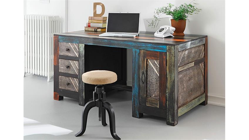 Schreibtisch GOA von Wolf Möbel in Massivholz Mango