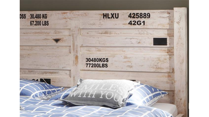 Bett 180x200 - 6910 CONTAINER von Wolf Möbel in Antik weiß