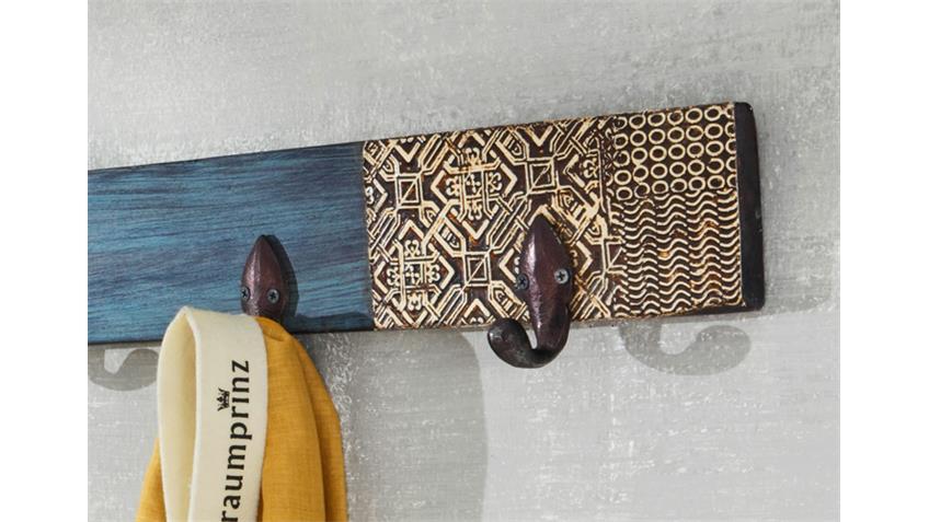 Garderobe GOA mit 5 Haken von Wolf Möbel in Massivholz Mango