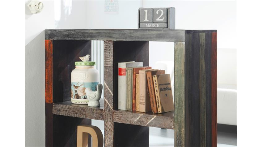 raumteiler 4 f cher goa wolf m bel mango massiv used look. Black Bedroom Furniture Sets. Home Design Ideas