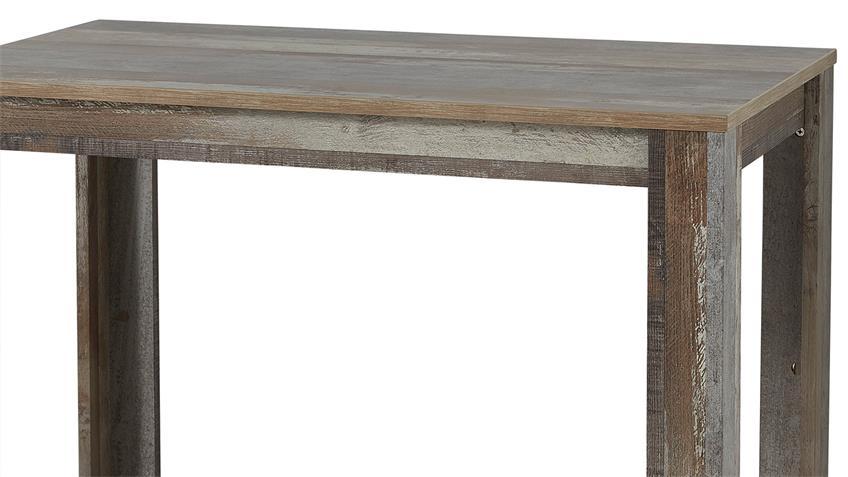 Tresentisch BONANZA Bartisch Hochtisch Tisch in Driftwood 120x70 cm