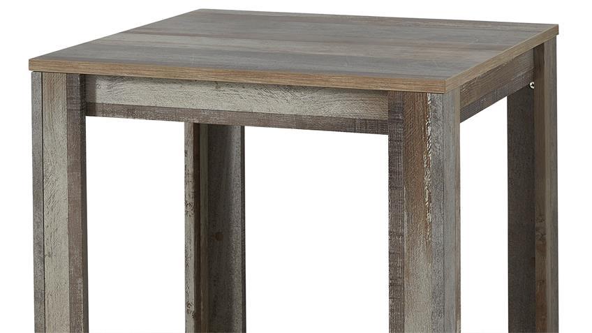 Tresentisch BONANZA Hochtisch Bartisch Tisch in Driftwood 80x80 cm