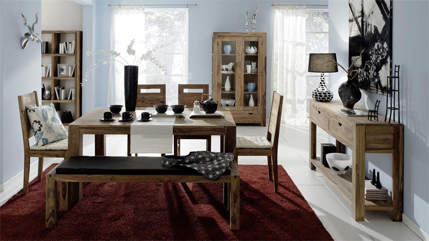 Esstisch Yoga Tisch ausziehbar Sheesham massiv Wolf Möbel