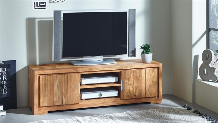 tv kommode vision 2822 in akazie massivholz von wolf m bel. Black Bedroom Furniture Sets. Home Design Ideas