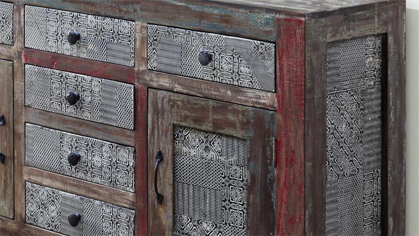 Sideboard GOA 3501-HI von Wolf Möbel in Massivholz Mango