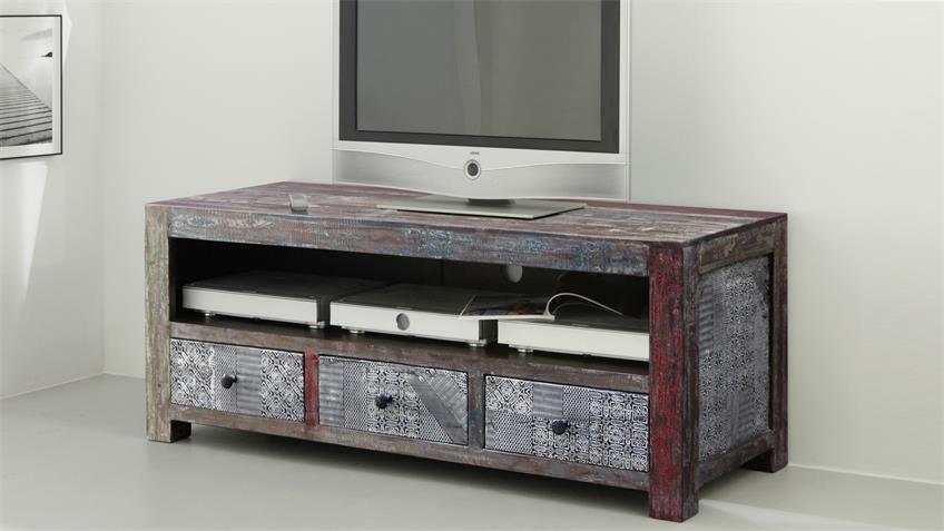 TV Board GOA RED 3507-HI Massivholz Mango von Wolf Möbel