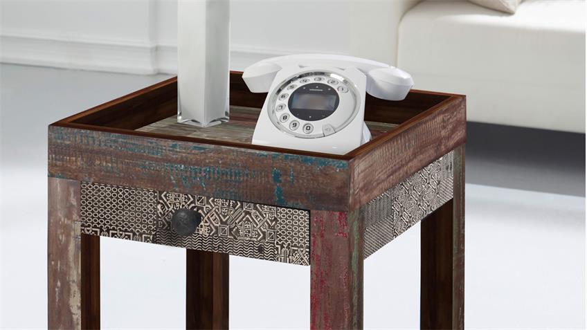 Telefontisch GOA RED 3522-HI Wolf Möbel in Mango massiv