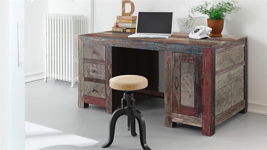 Schreibtisch GOA RED3529-HI von Wolf Möbel in Massivholz