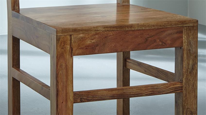 2er Set Stuhl VISION 2831 Massivholz Akazie von Wolf Möbel