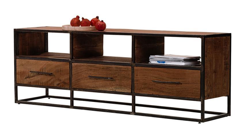 lowboard spring 4664 in akazie massiv forest von wolf m bel. Black Bedroom Furniture Sets. Home Design Ideas
