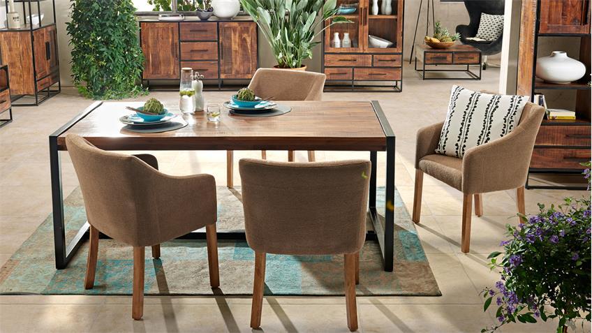 esstisch spring 4676 in akazie massiv 185x90 von wolf m bel. Black Bedroom Furniture Sets. Home Design Ideas