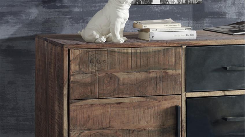 Sideboard PUERTO 4692 Anrichte in Akazie massiv Hela von Wolf Möbel