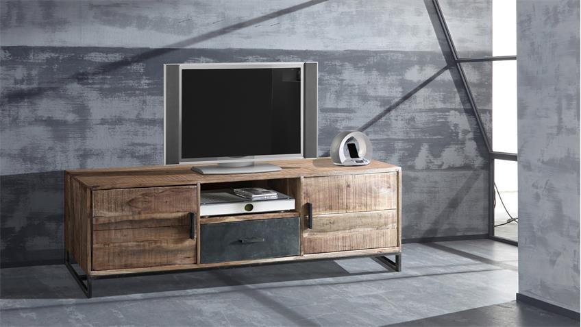 TV-Board Puerto 4693 Lowboard TV-Schrank Akazie massiv Hela Wolf Möbel