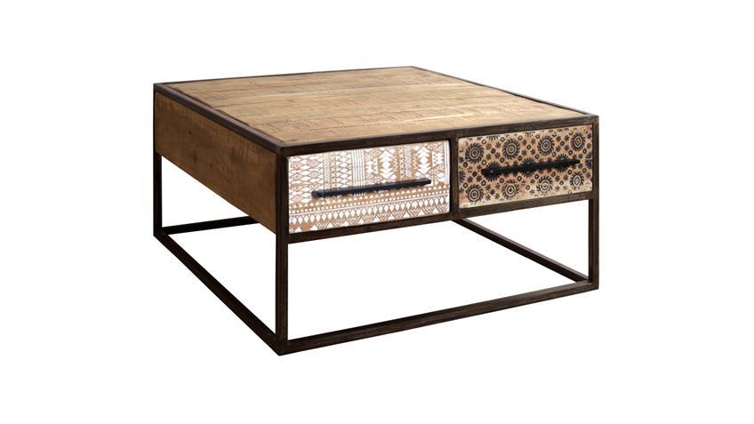 Couchtisch PUERTO 4654 Tisch Akazie massiv Hela Print Wolf Möbel 80 cm