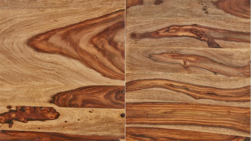 Esstisch SHAN 6322 Sheesham Massivholz shina braun 180x90 Wolf Möbel