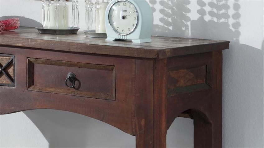 Konsole HIMALAYA Altholz 3702 Tisch old recycled wood von Wolf Möbel