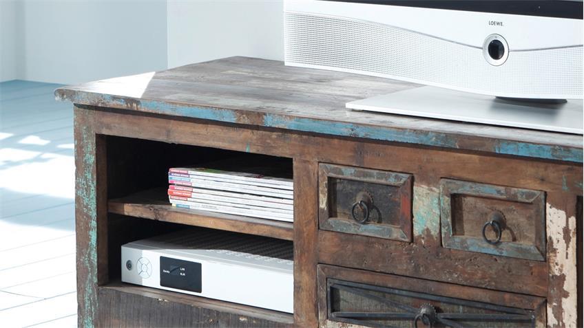 Lowboard HIMALAYA Altholz 3710 TV-Board old recycled wood Wolf Möbel