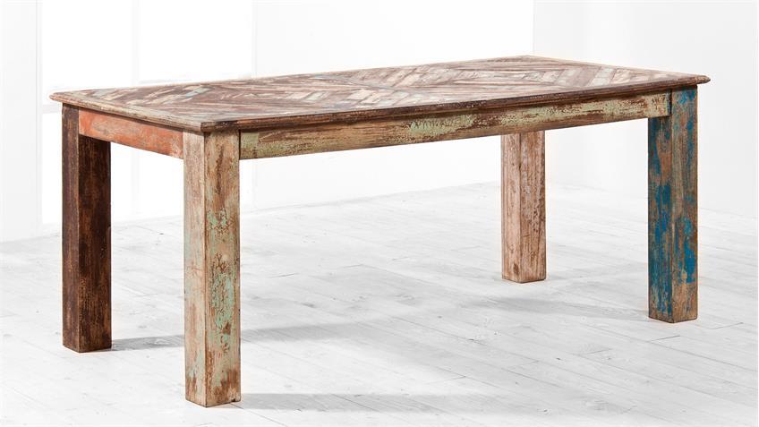 Esstisch HIMALAYA Altholz 3719 Tisch old recycled wood von Wolf Möbel