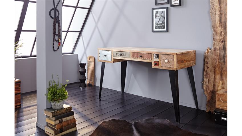 Schreibtisch HIMALAYA Mix 3831 Mango natur Front mehrfarbig Wolf Möbel