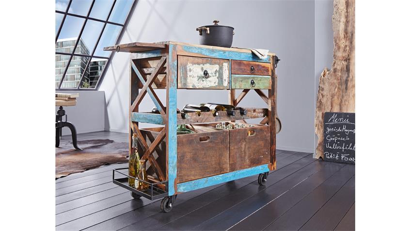 Küchenwagen HIMALAYA Altholz 3855 old recycled wood von Wolf Möbel