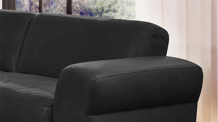 Sofa MONTANAA 2-Sitzer Leder schwarz 232 cm Willi Schillig