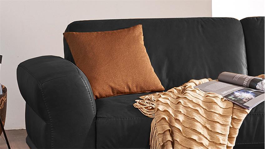 sofa montanaa 2 sitzer leder schwarz 212 cm willi schillig. Black Bedroom Furniture Sets. Home Design Ideas