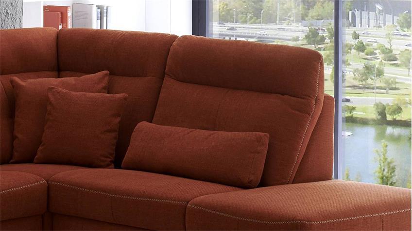 Ecksofa ZIMA Wohnlandschaft Sofa orange mit Funktion 274x240
